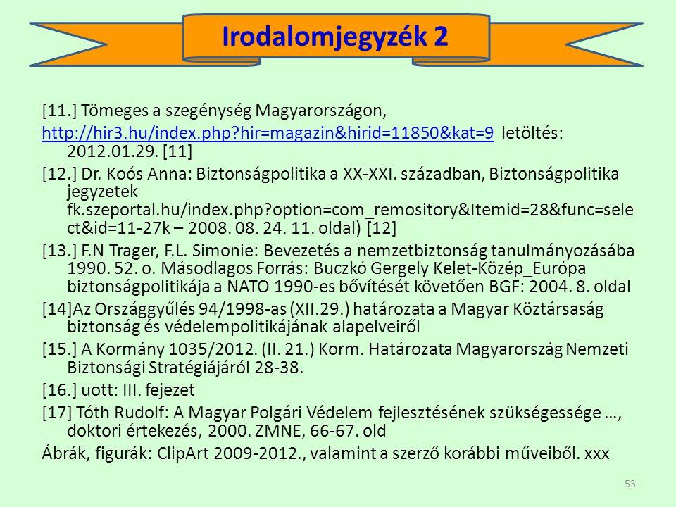 Irodalomjegyzék 2 [11.] Tömeges a szegénység Magyarországon,